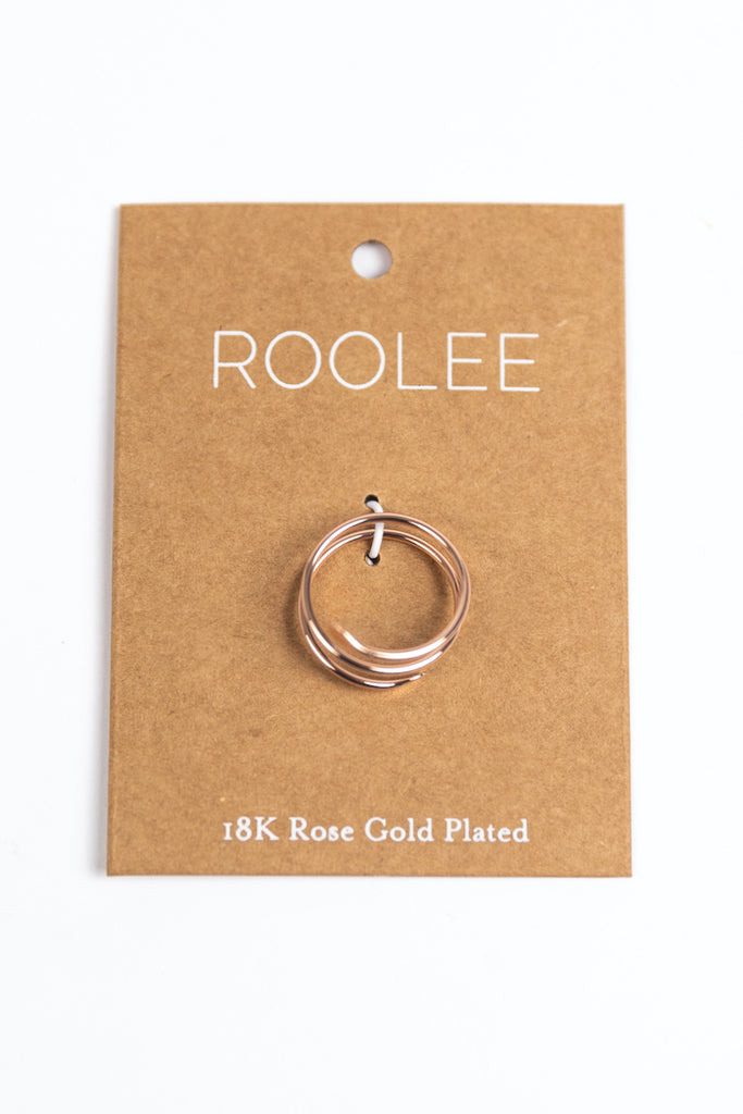 Rose Gold Simple Jewelry | ROOLEE