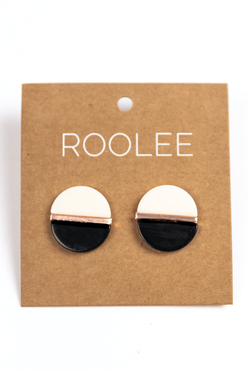 Black and White Earrings | ROOLEE