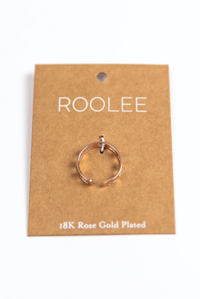 Rose Gold Coated Everyday Ring | ROOLEE