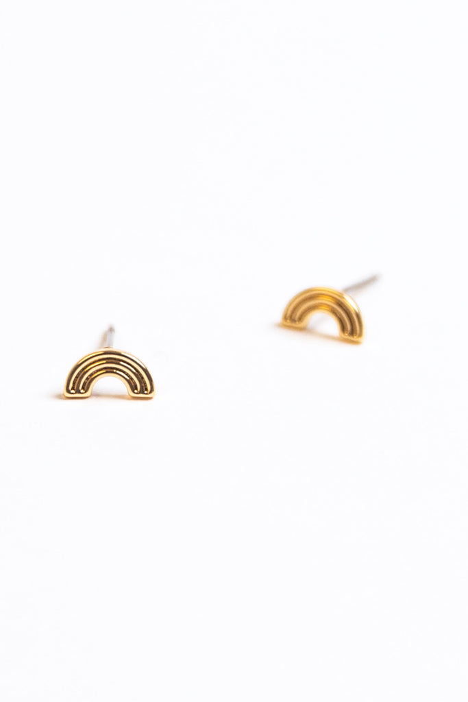 Small Gold Stud Earrings | ROOLEE