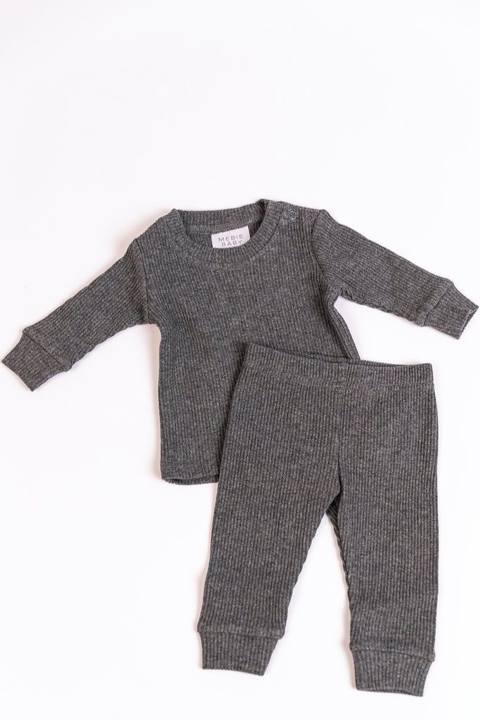 Grey Sweat Set for Babies | ROOLEE