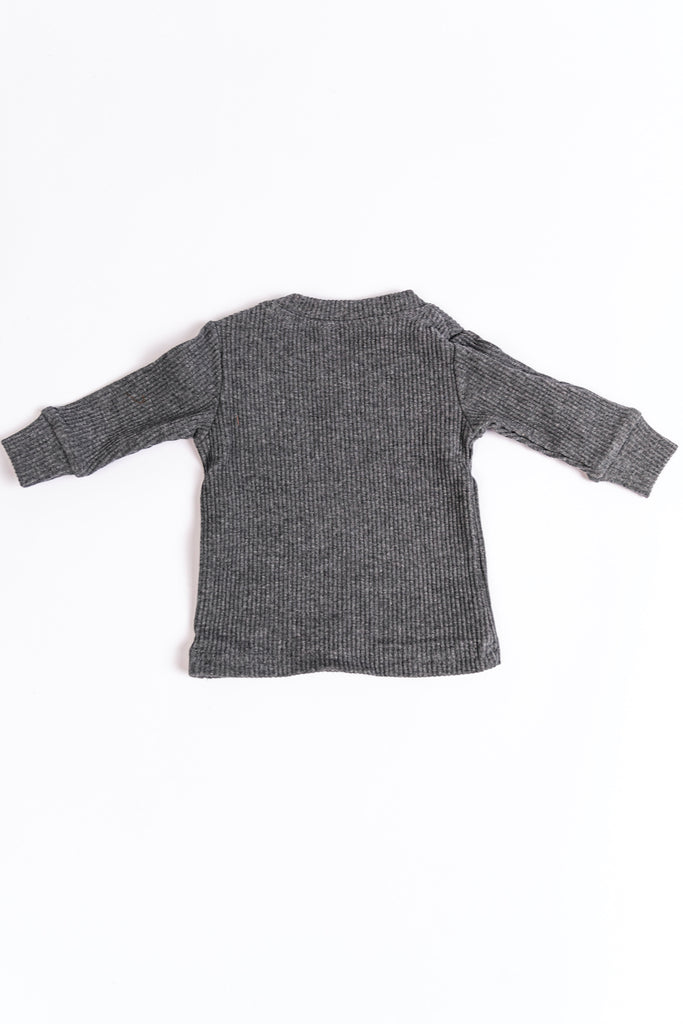 Grey Lounge Sweats Set for Kids | ROOLEE