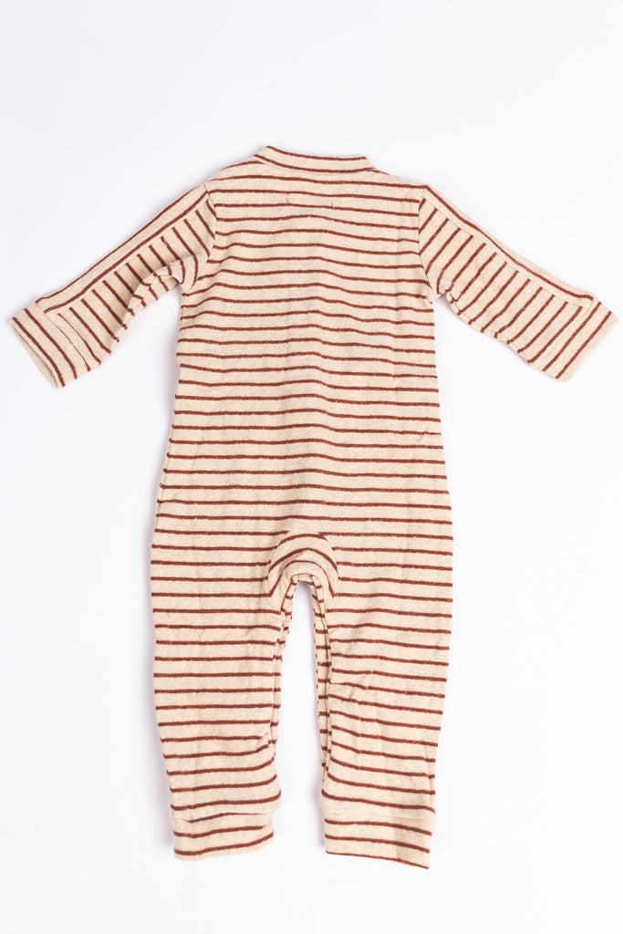 Cream and Red Striped Baby Onesie | ROOLEE