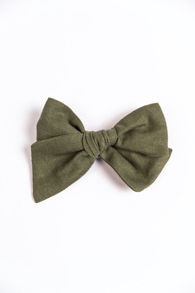 Green Hand Tied Bow | ROOLEE