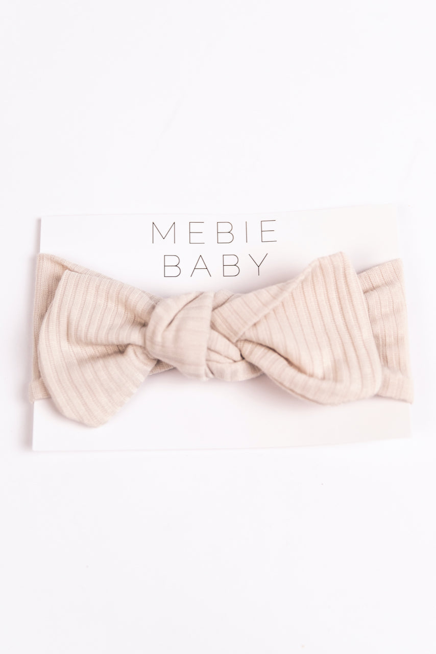 Light Cream Knit Baby Headband | ROOLEE
