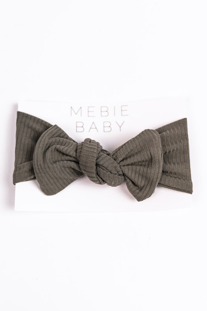 Grey Knit Baby Headband | ROOLEE