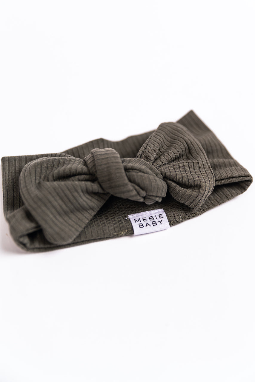 Rib Knit Baby Headband with Stretch | ROOLEE
