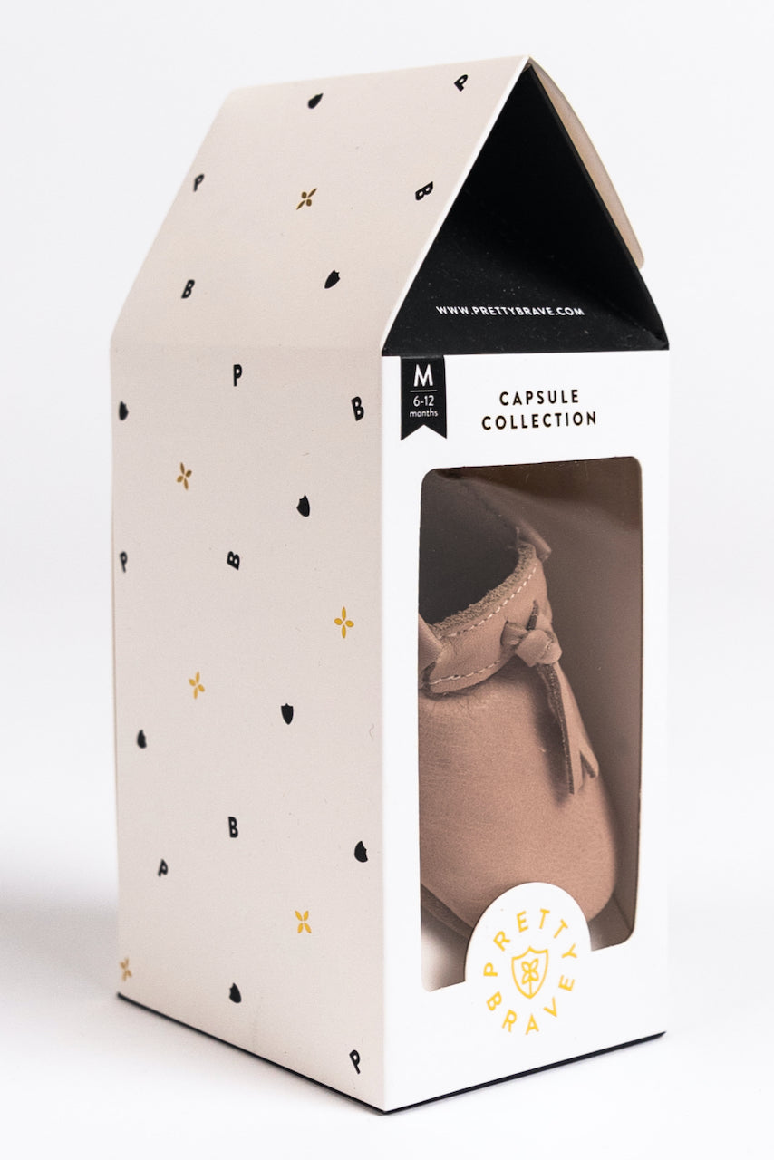 Cute Box Packaging for Baby Moccasins | ROOLEE