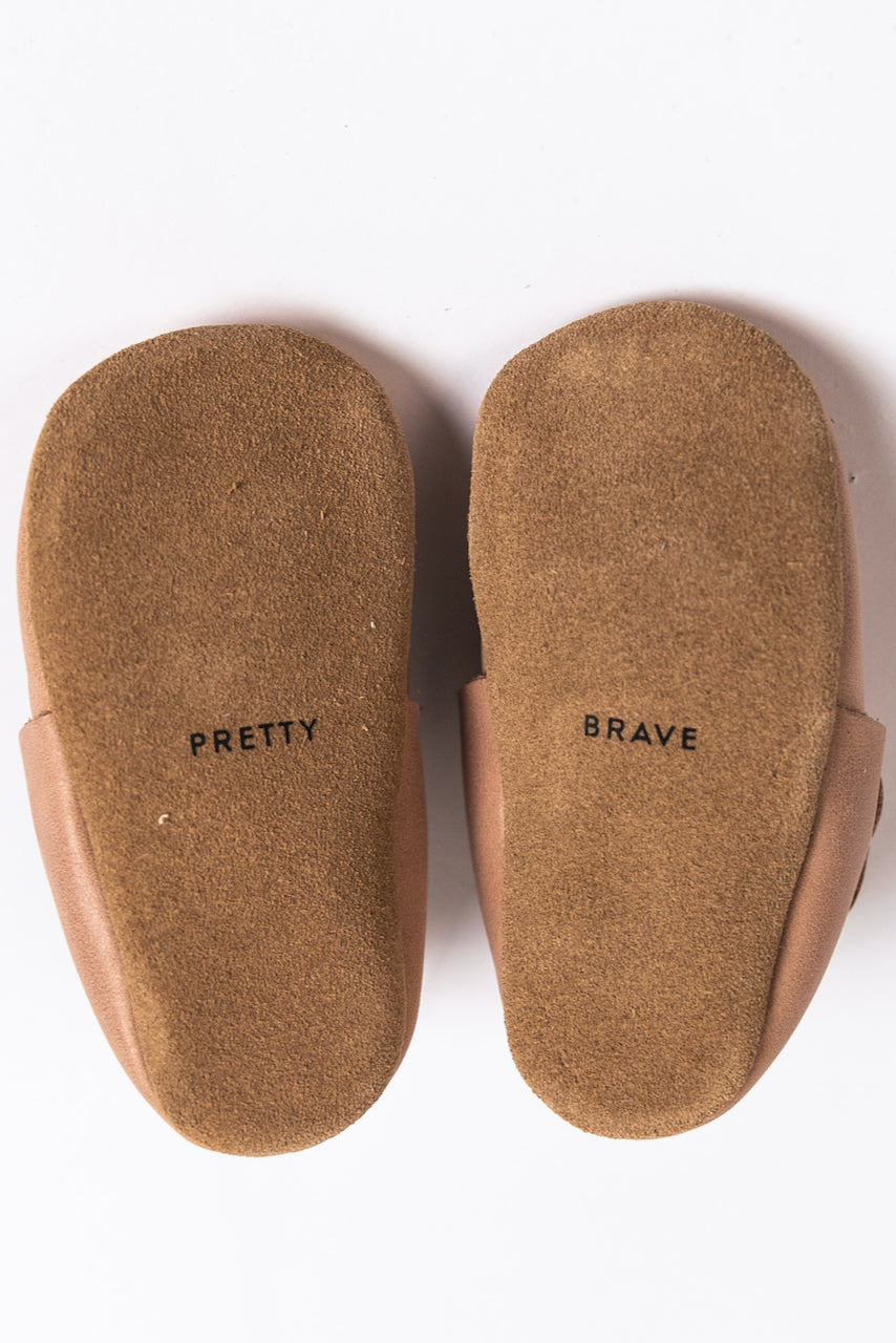 Two Tone Durable Baby Moccasins | ROOLEE