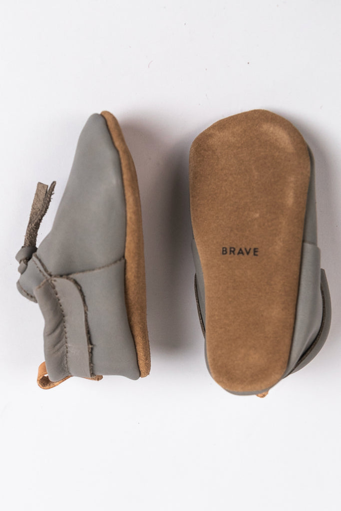 Grey Tone Durable Baby Shoes for Sunday | ROOLEE