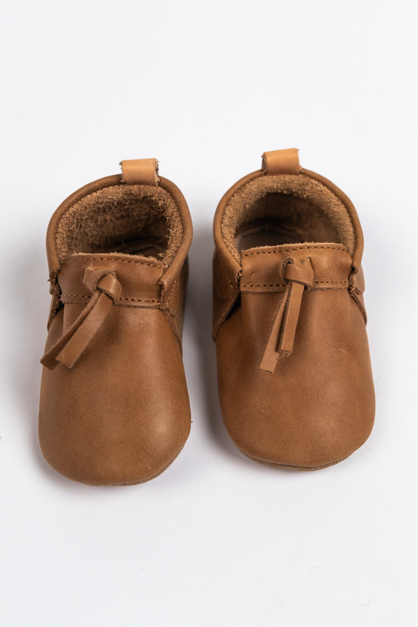 Brown Tassel Mocs in Modern Color for Baby | ROOLEE