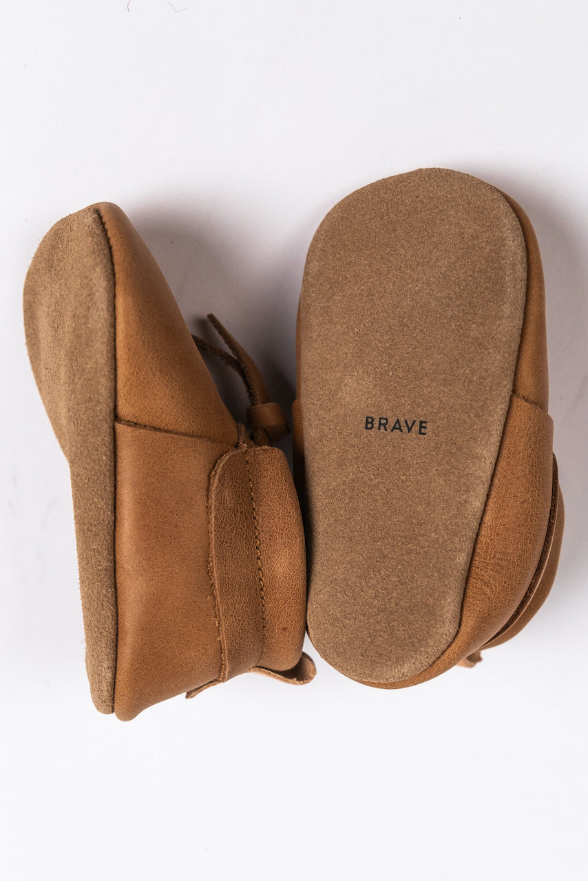 Light Tan Mocs for Baby for Fall | ROOLEE