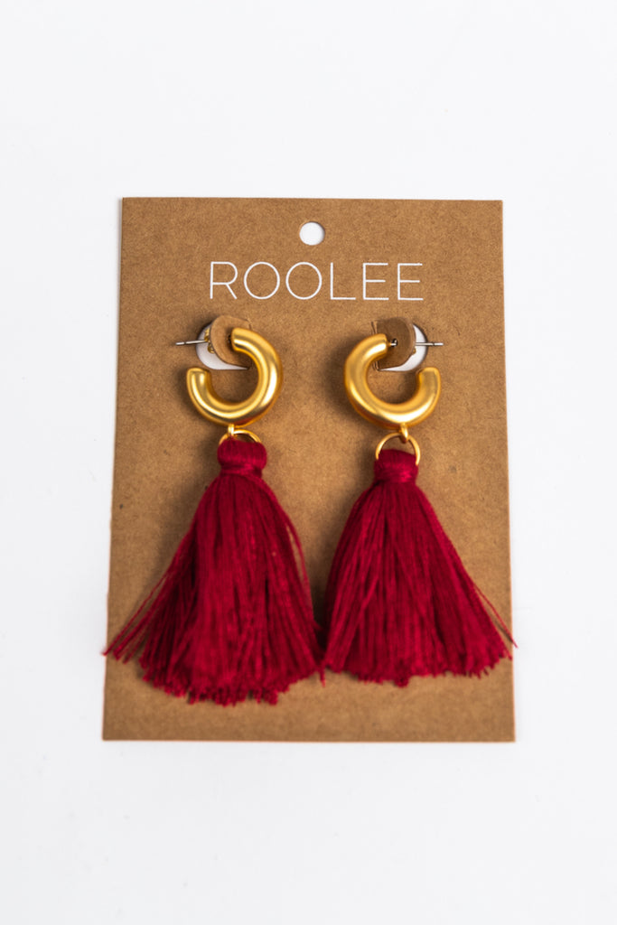 Red Tassel Earrings | ROOLEE