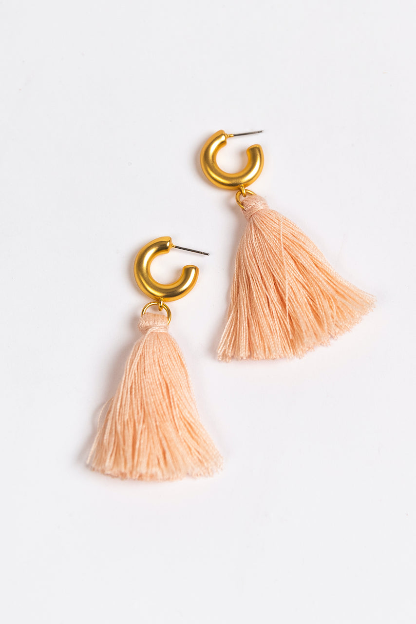 Hoop Tassel Earrings | ROOLEE