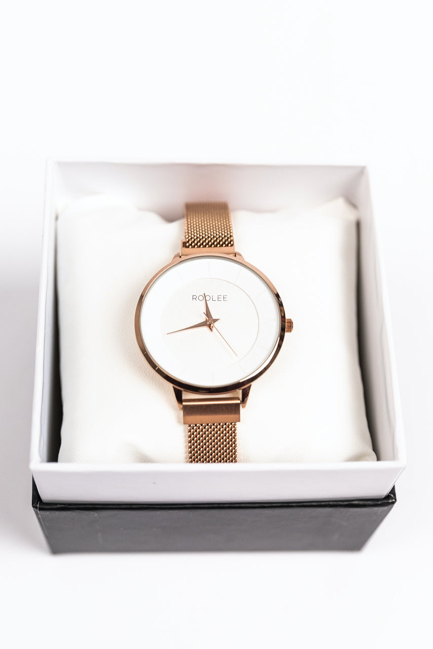 Gold Mesh Watch | ROOLEE