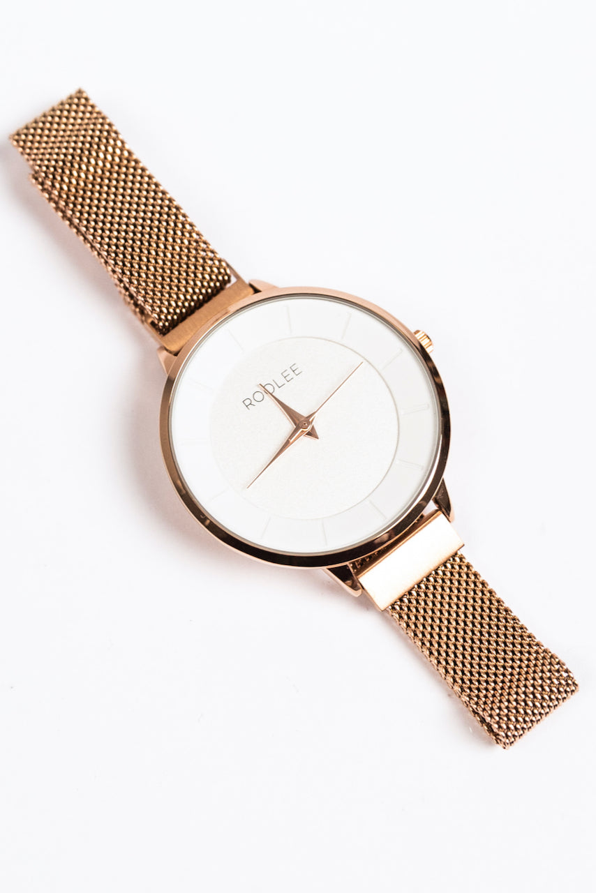 Gold Metal Mesh Watch | ROOLEE