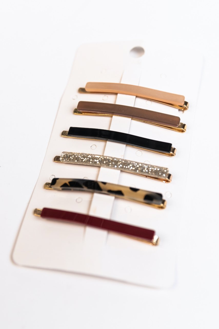 Simple glitter clips set | ROOLEE