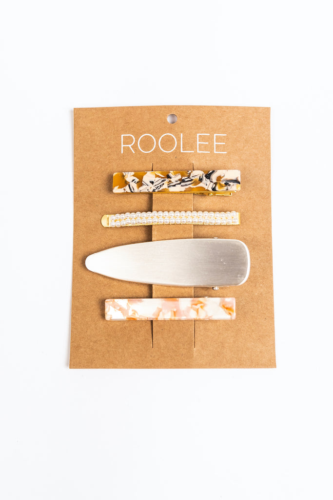 Printed Hair Clips | ROOLEE