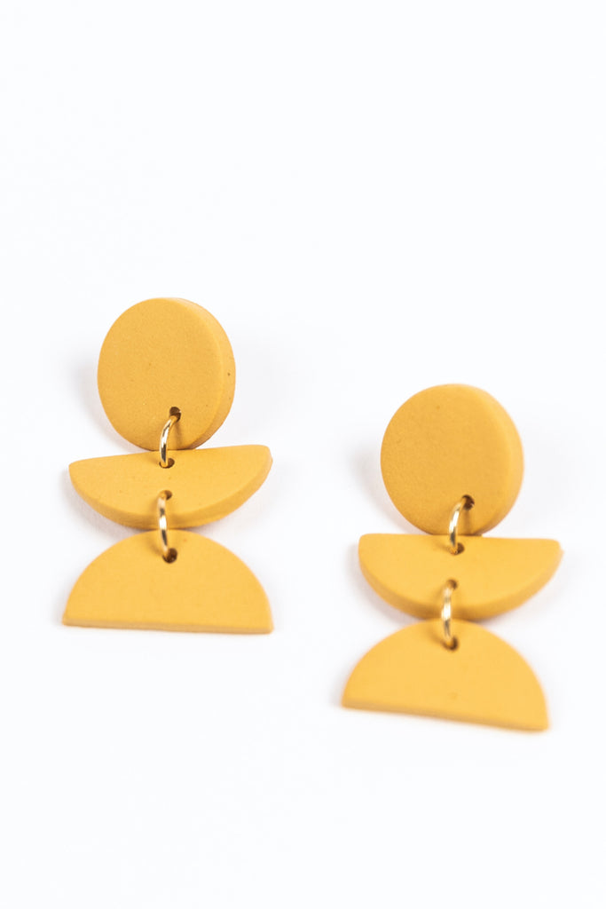 Dahlia Geometric Earrings
