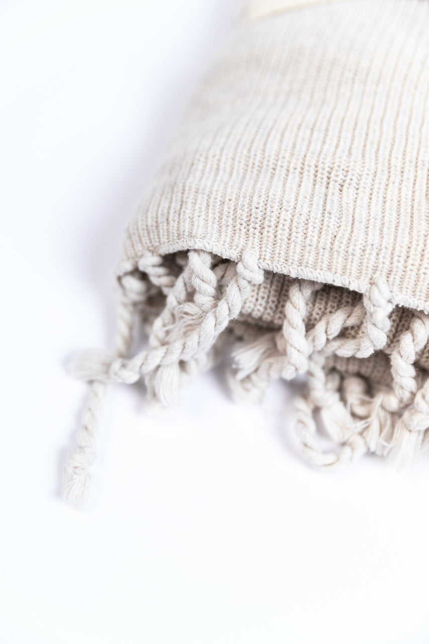 Natural Tuck Knit Blanket