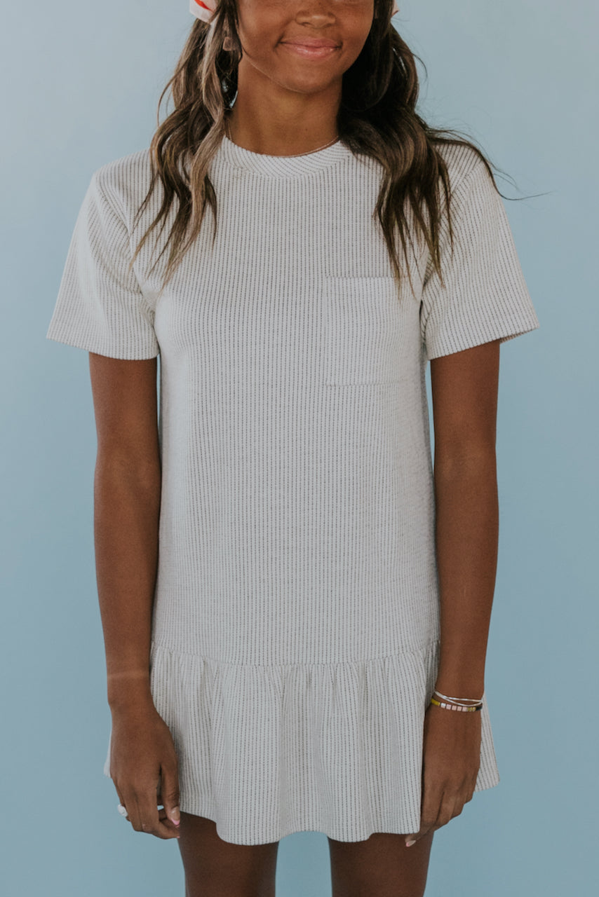 Stripe Tee Shirt Dress Outfit | ROOLEE
