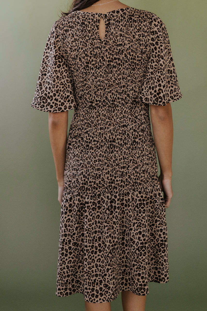 Cheetah Sisters Detail Dress
