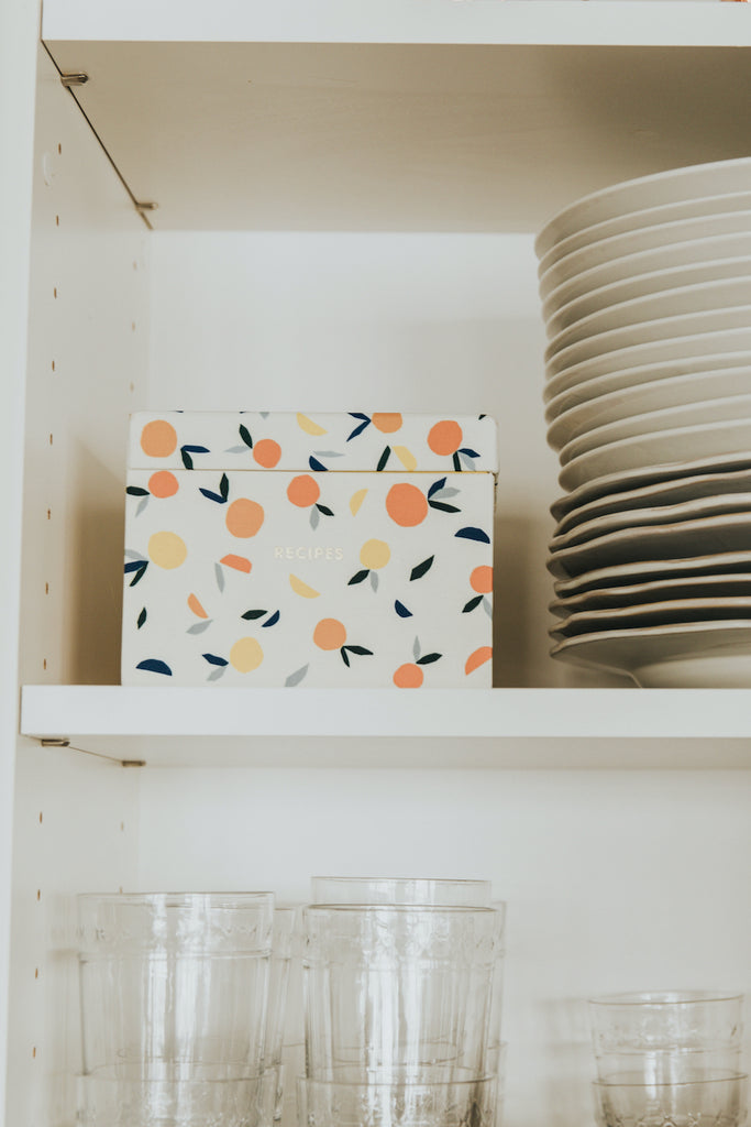 Kate Spade Citrus Twist Recipe Box