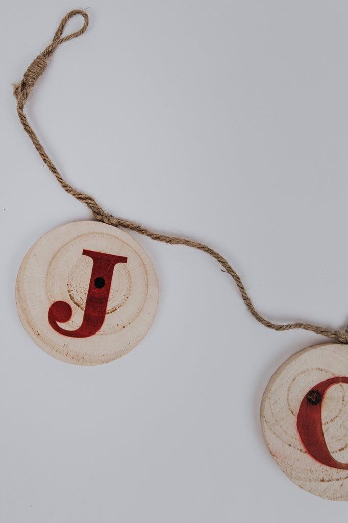 Joy Wooden Holiday Christmas Banner | ROOLEE Home