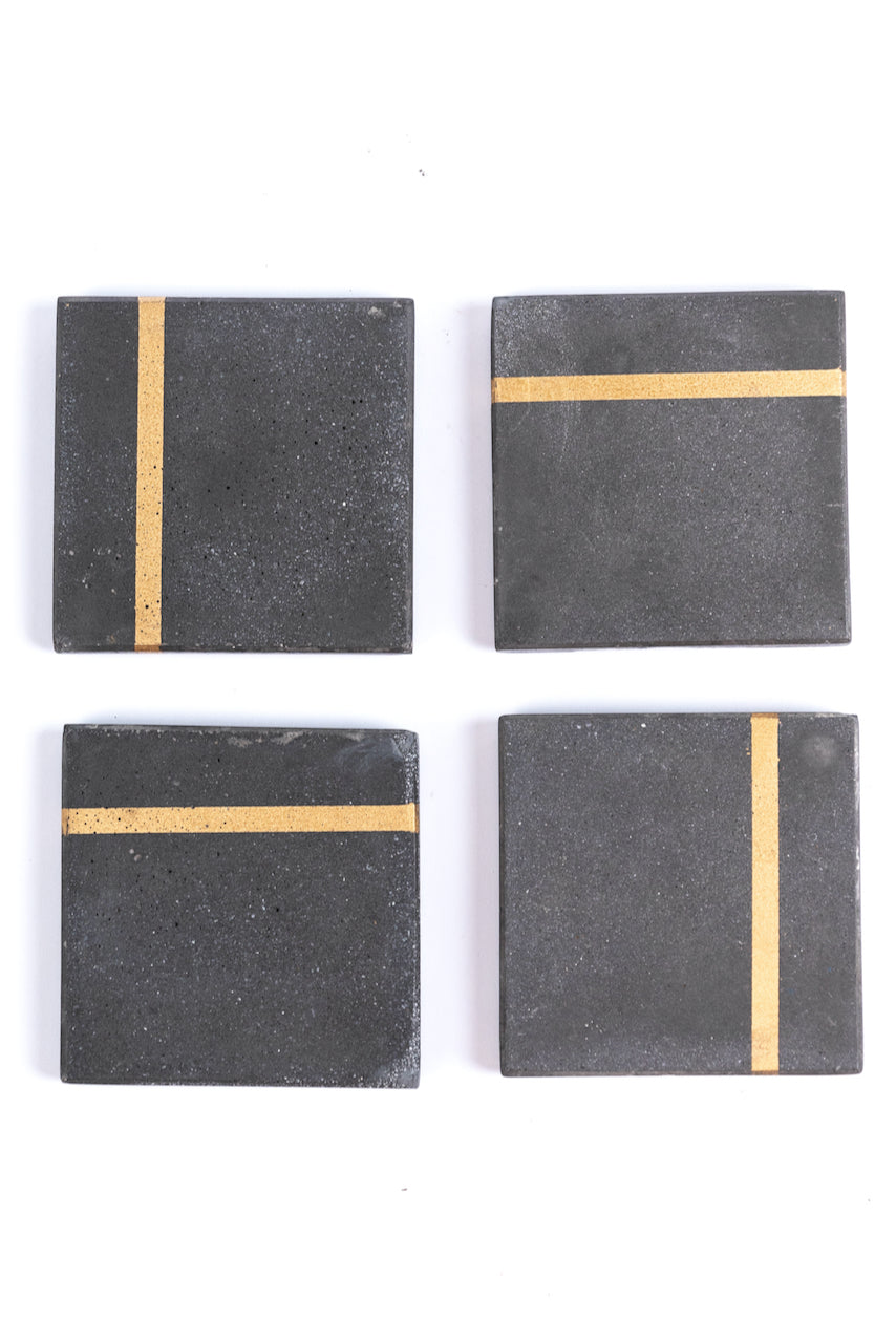 Tipton Gold Finished Cement Coasters