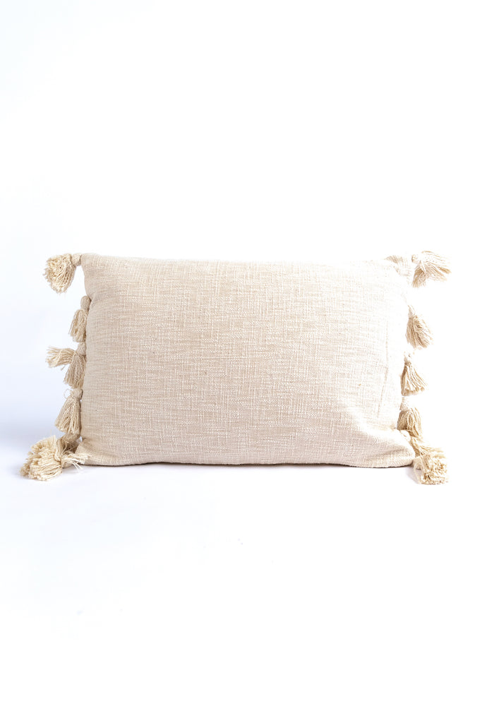 Passport Home Woven Tassel Pillow