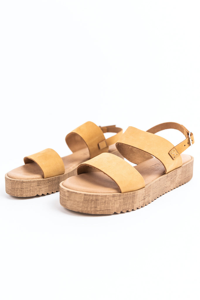 Brown one inch platform sandal | ROOLEE