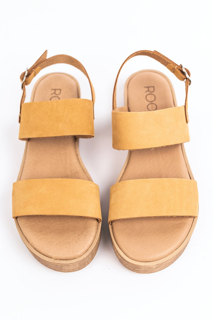 Light yellow strap sandal | ROOLEE