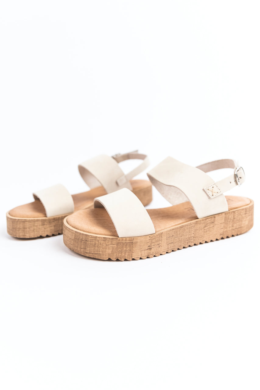 Retro white strappy sandal | ROOLEE
