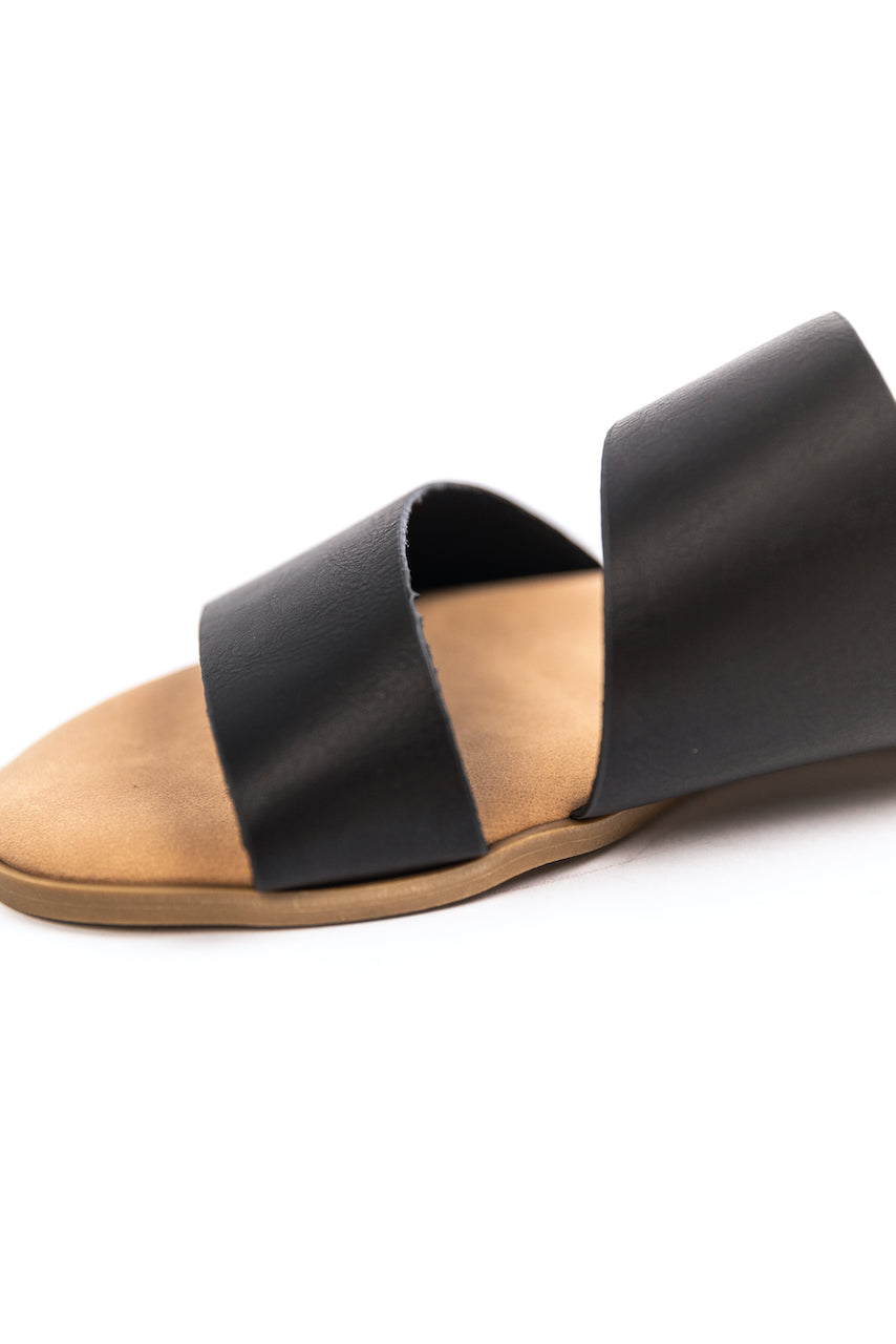 Black Slide On Sandals | ROOLEE