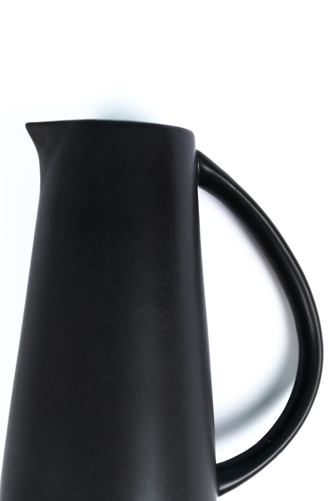 black stoneware water pitcher | ROOLEE