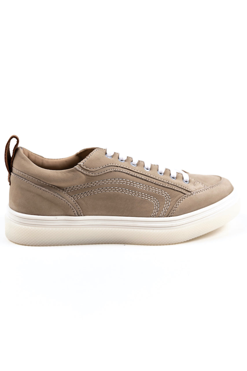 Neutral tan casual tennies shoes | ROOLEE