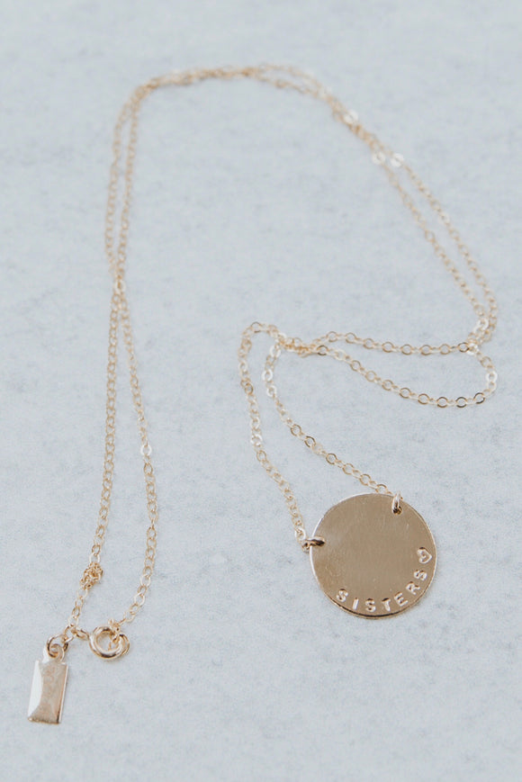 Sisters♡ Pendant Necklace | ROOLEE