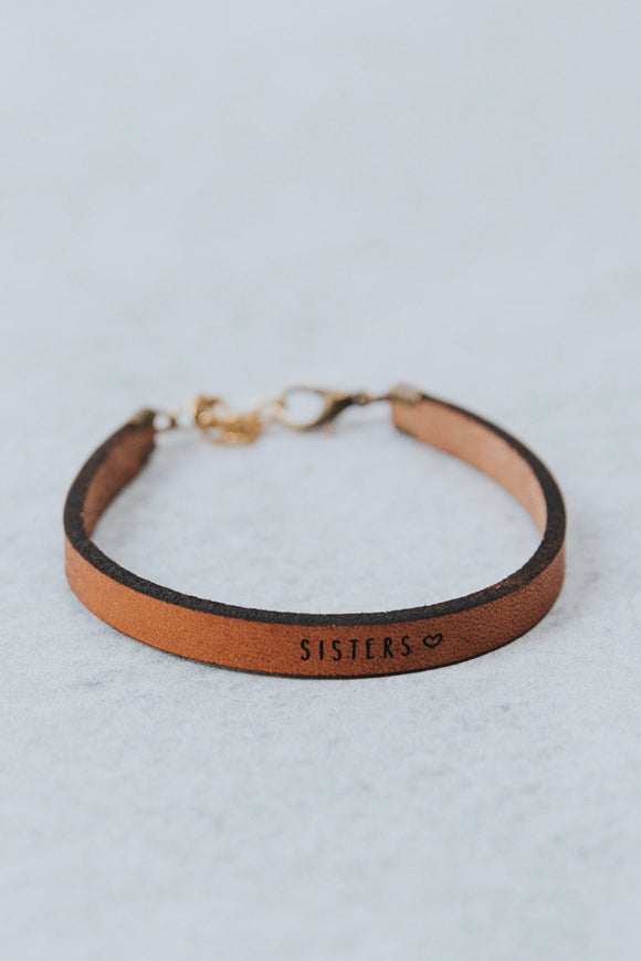 Sisters♡ Leather Bracelet | ROOLEE