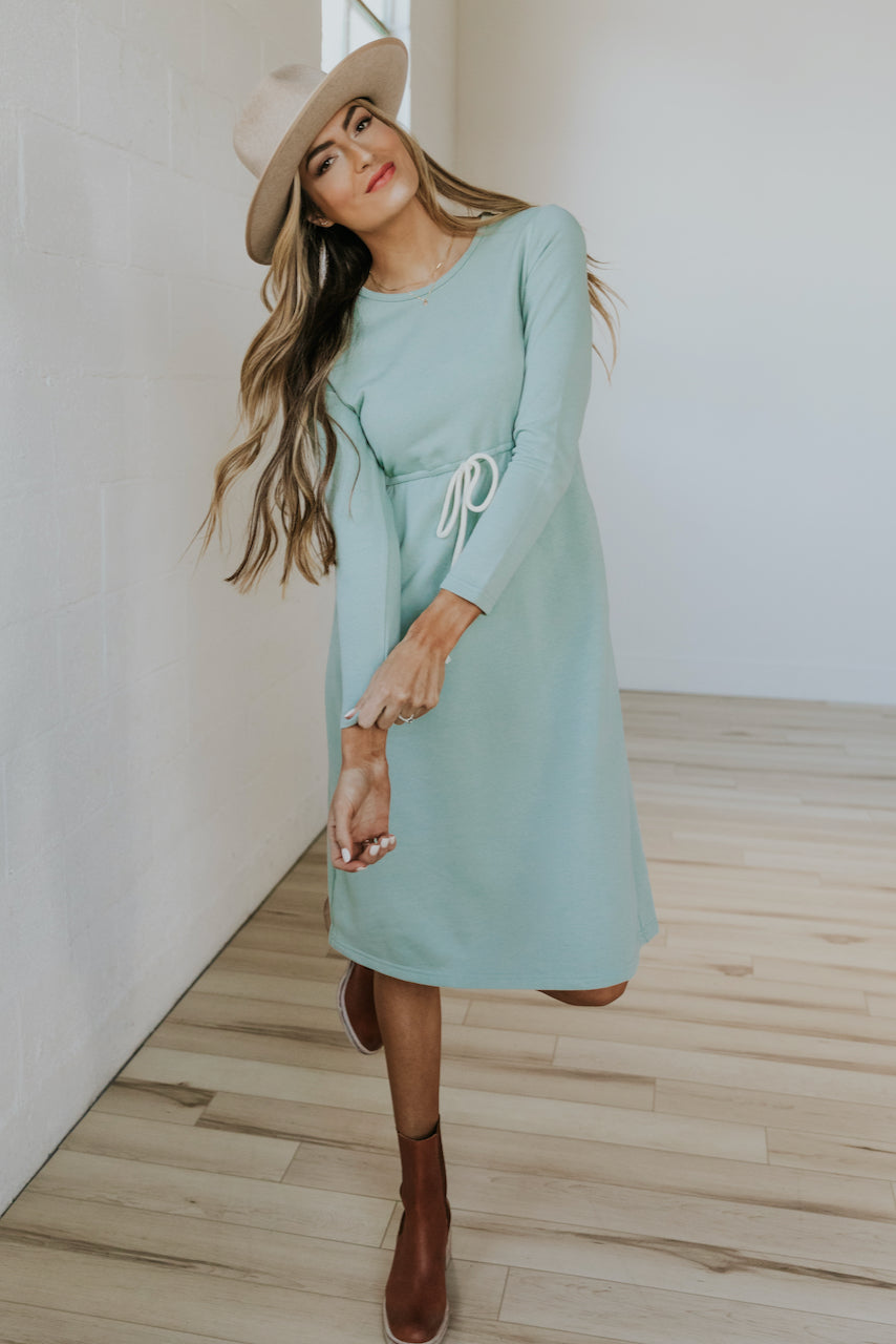The Goldie Drawstring MOM Dress