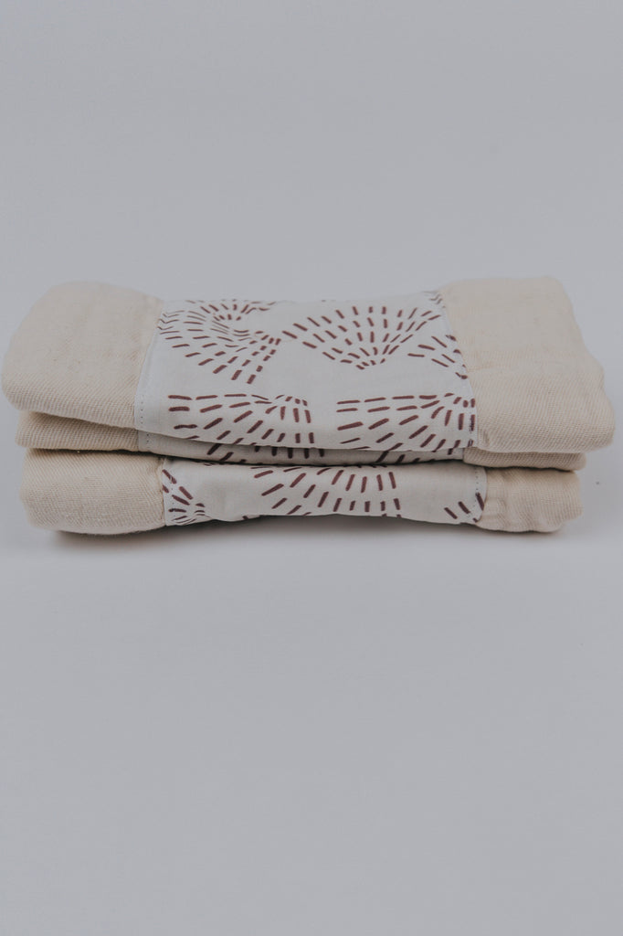 Patterned Burp Cloth Set | ROOLEE Kids