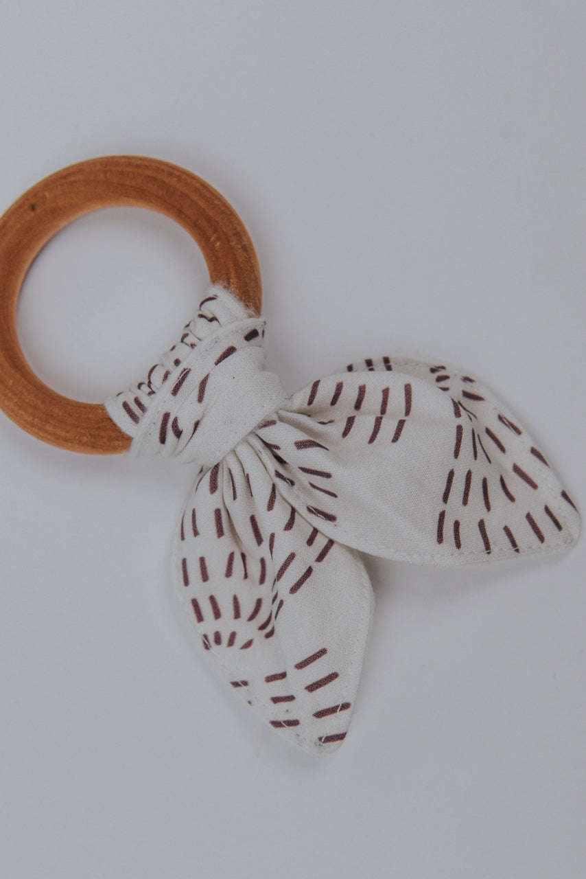 Wooden Patterned Teething Ring | ROOLEE Kids