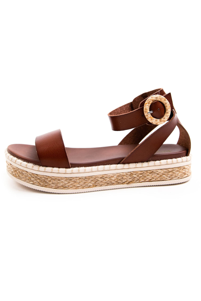 buckle faux leather sandals | ROOLEE