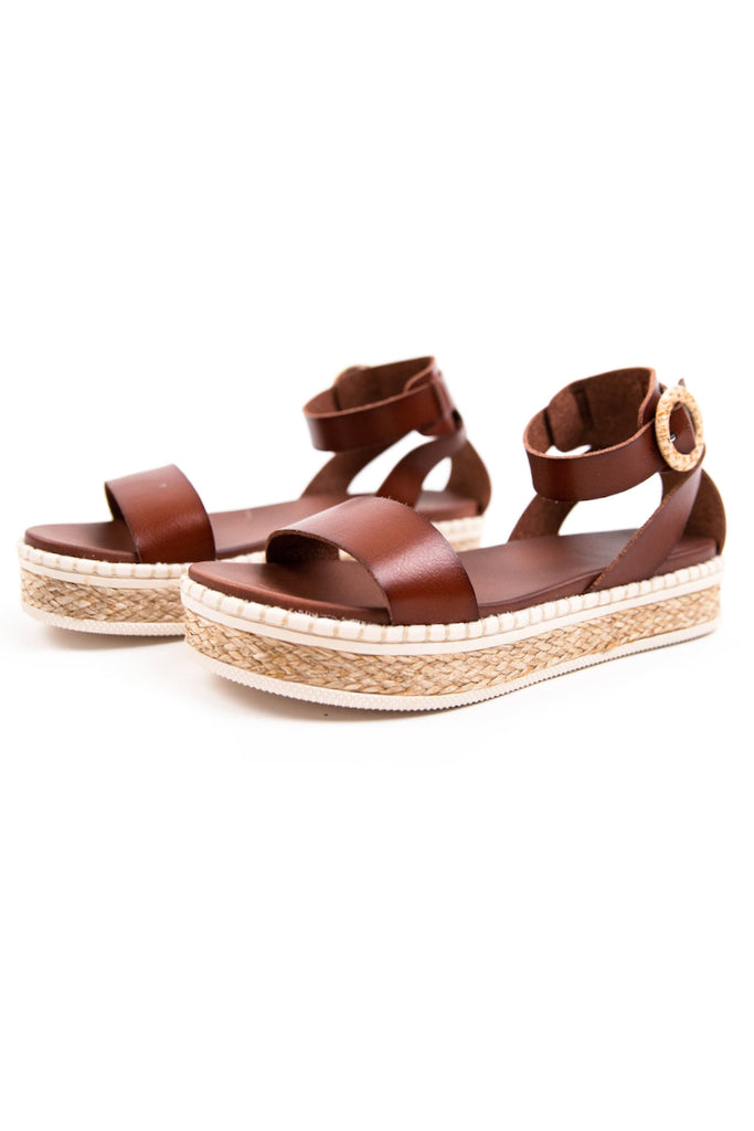 faux leather platform sandals | ROOLEE