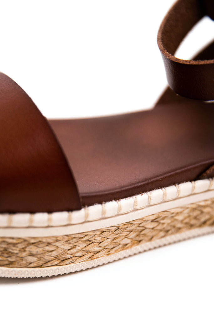 leather sandals with rubber sole | ROOLEE