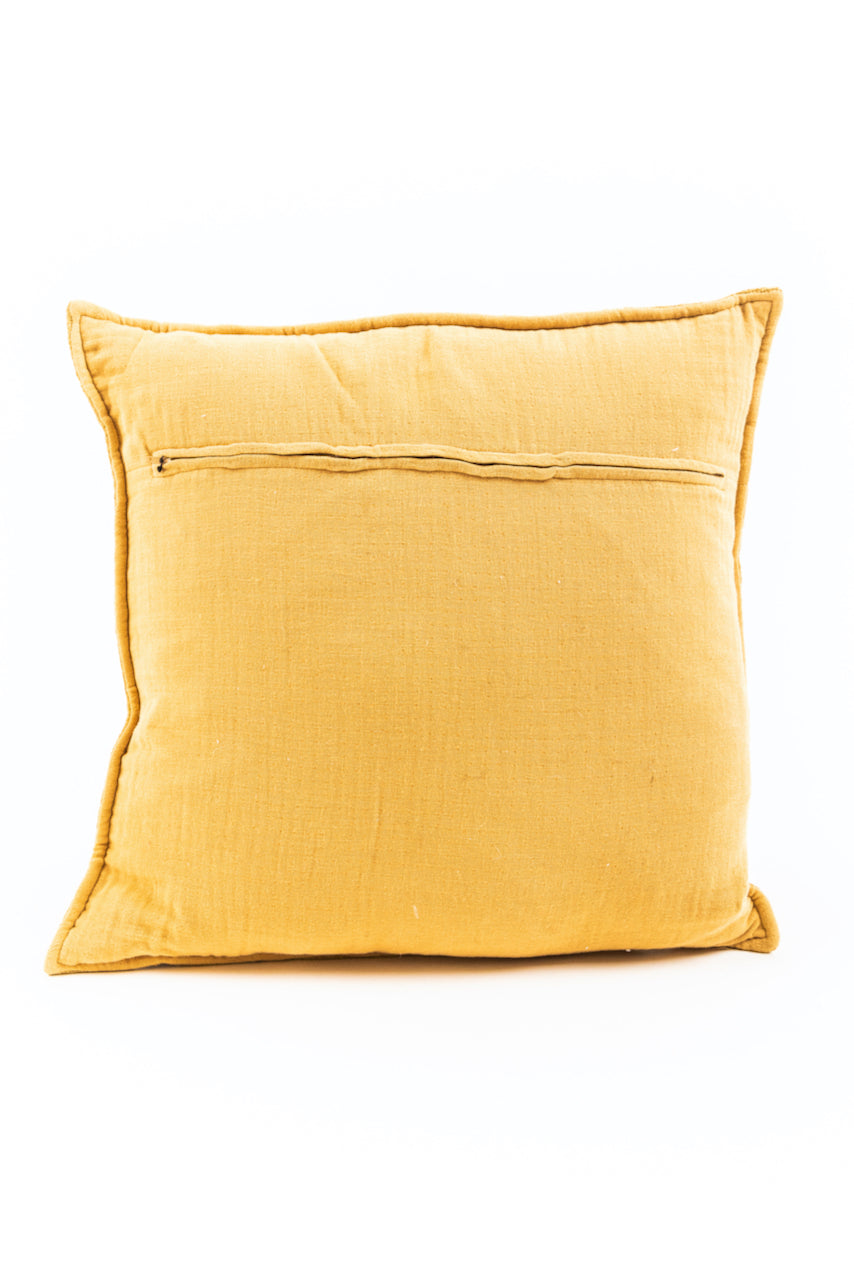 Mustard Throw Pillow | ROOLEE
