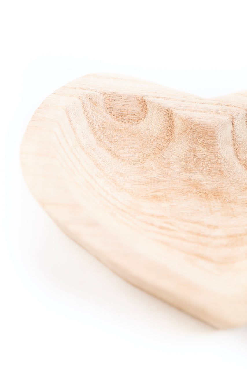 Heart Shaped Wood Bowl | ROOLEE