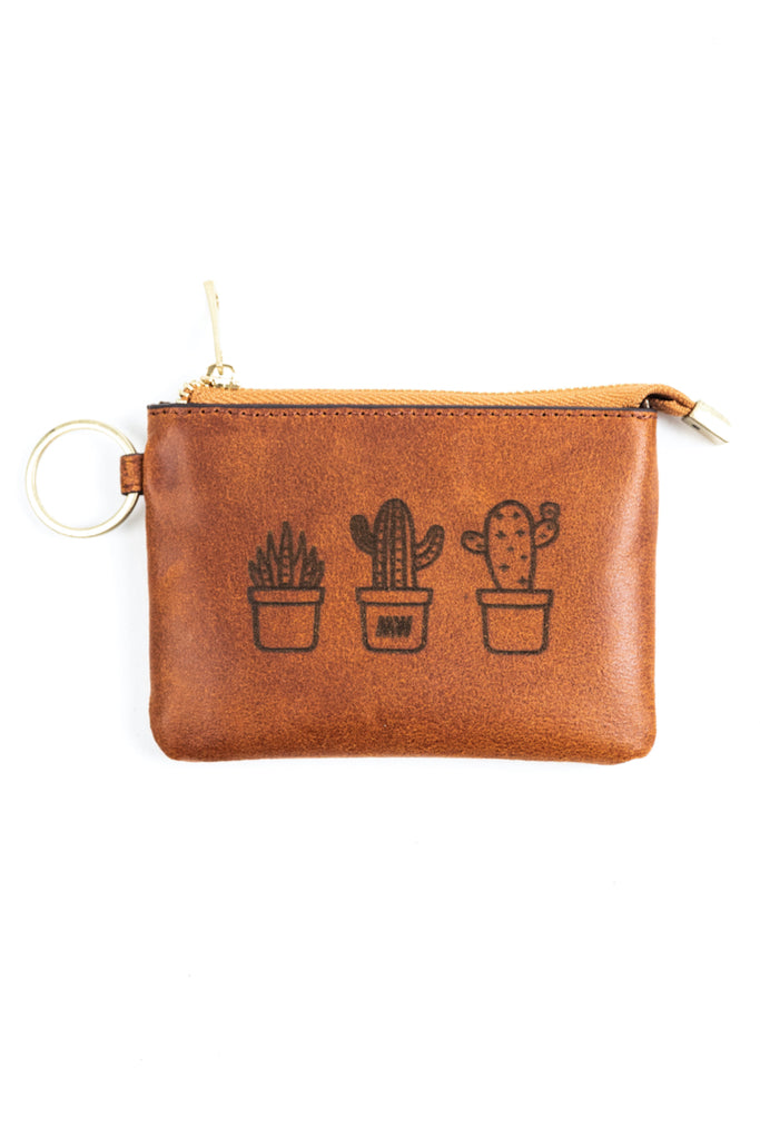 Leather Cactus Pouch