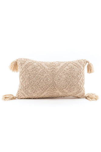 Mercado Textured Tassel Pillow