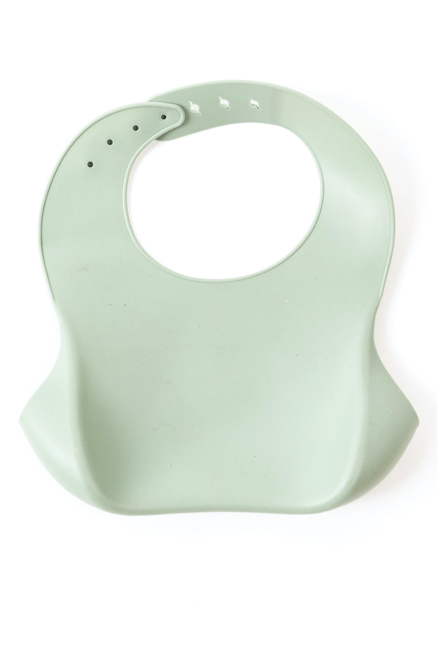 Adjustable baby bib in silicone mint | ROOLEE