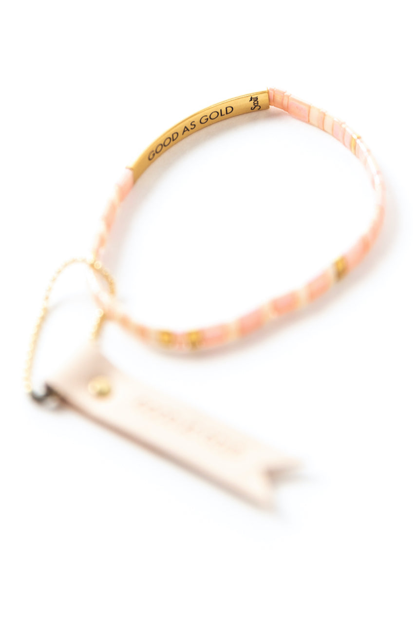 Good as gold quote bracelet | ROOLEE